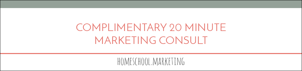 complimentary 20-minute consultation to review your marketing goals and needs